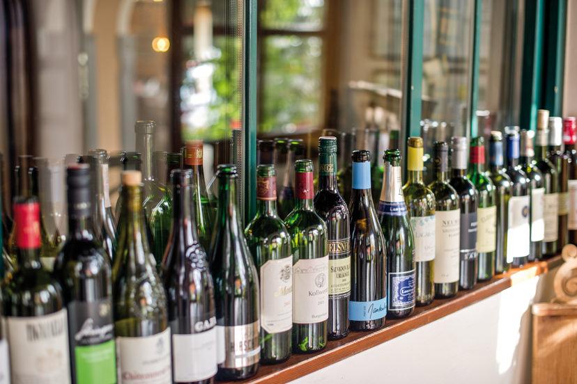 Große Weinauswahl beim Berggasthof König | © Berggasthof König