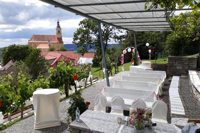 Hochzeit im Weingarten | © Berggasthof König
