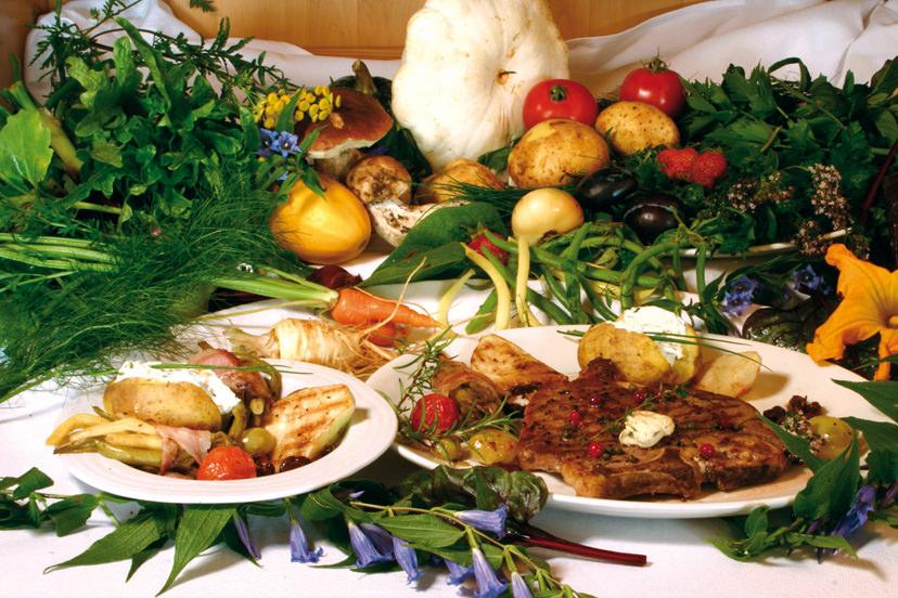 T-Bone Steak und Gemüse | © Bio-Hotel - Alpengasthof Koralpenblick